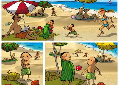 Pomme d'Api Soleil / colorisation BD